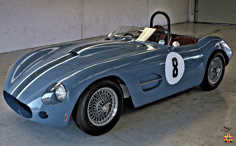 Mitchell Special MKII classic car inspired bodywork, designed by 3D Engineers, awaits first race at Silverstone.