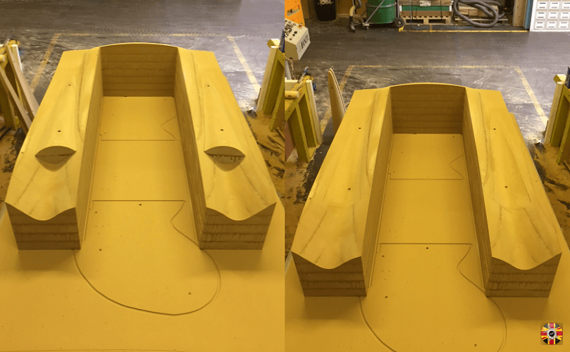 3D Engineers molds made from MDF having finished CNC machining process.