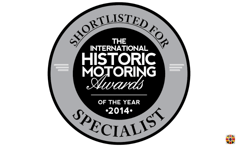 Stuart Brown of 3D Engineers shortlisted 2014 International Historic Motoring Awards specialist of the year.