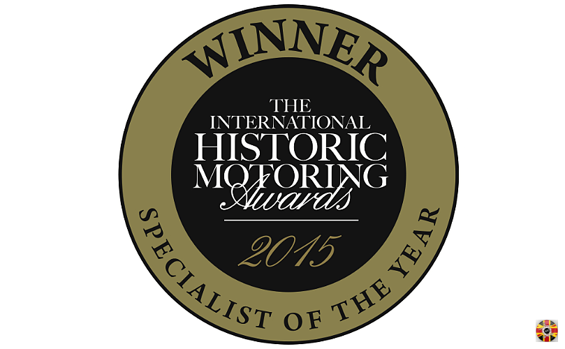 Stuart Brown of 3D Engineers wins 2015 International Historic Motoring Awards specialist of the year.