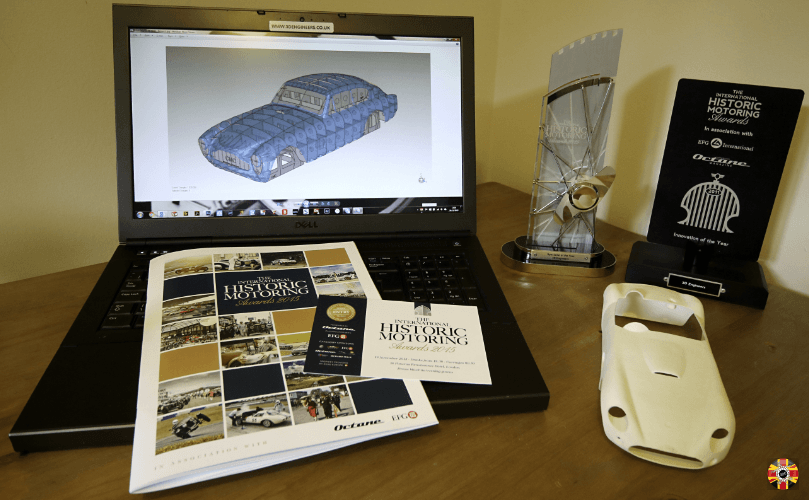 International Historic Motoring Awards multiple award winning business 3D Engineers shows work and trophies.