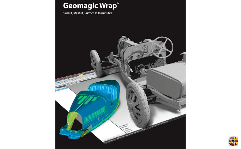 Geomagic use 3D Engineers Bugatti Type 35 laser scan and CAD data to promote their software.