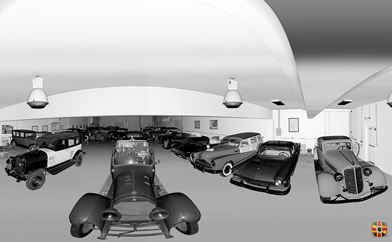 Cadillac Type 57 from 1918 3D scan panoramic picture by 3D Engineers. USA library of congress project.