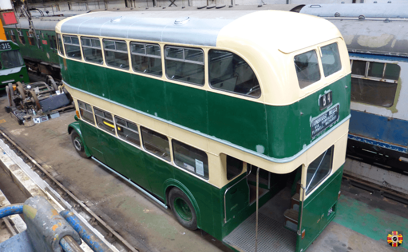 Leyland double decker bus 3D laser scanned by 3D Engineers in order to assist in creation of a scale model.