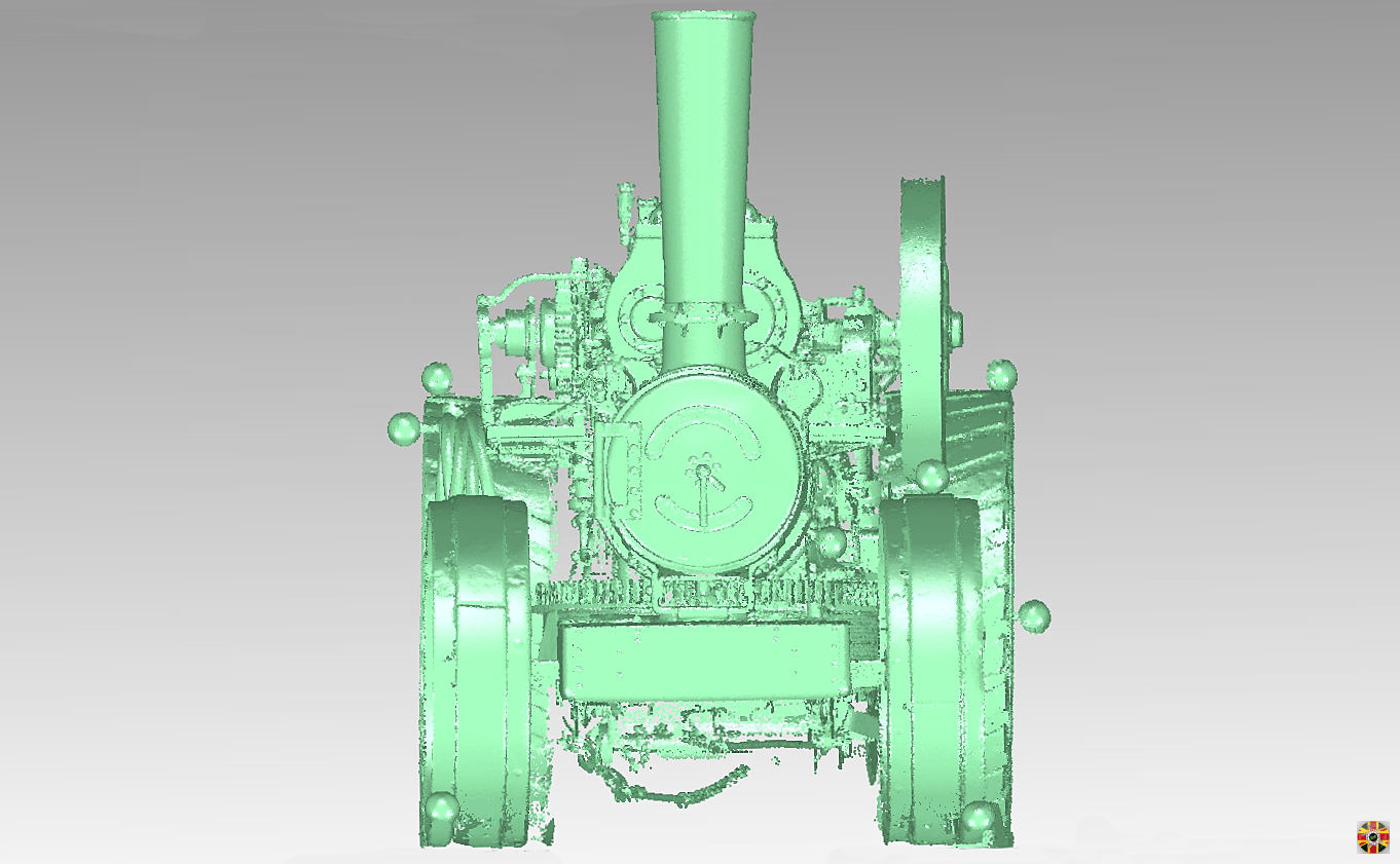 Traction engine point cloud created from 3D laser scan undertaken by 3D Engineers.