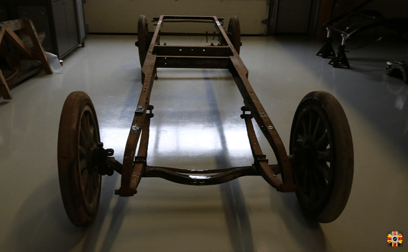 Veteran car chassis 3D laser scanned by 3D Engineers in order to create an aero engine car.