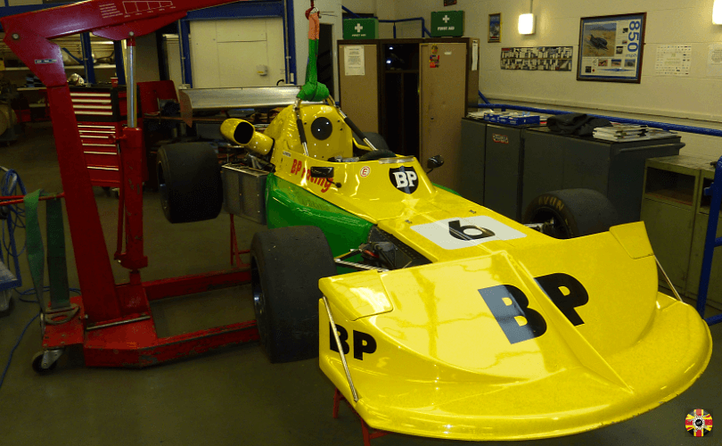 Single seater racing car body being laser scanned by 3D Engineers in order to assist air flow analysis.