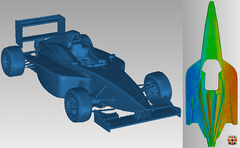 BMW single seater racing car point cloud data created by 3D Engineers.