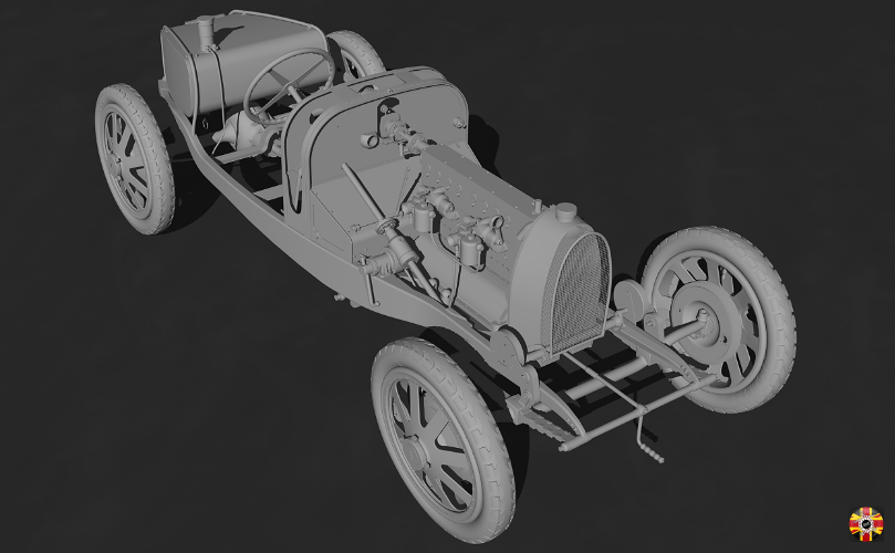 Bugatti Type 35 has every part created in CAD program by 3D Engineers. World first!