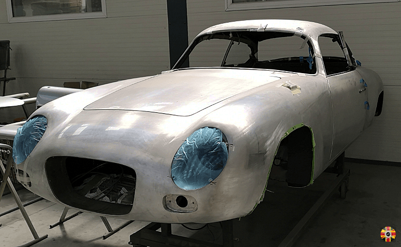 Lancia Appia GTE new aluminium body created by Thornley Kelham using a 3D Engineers buck.