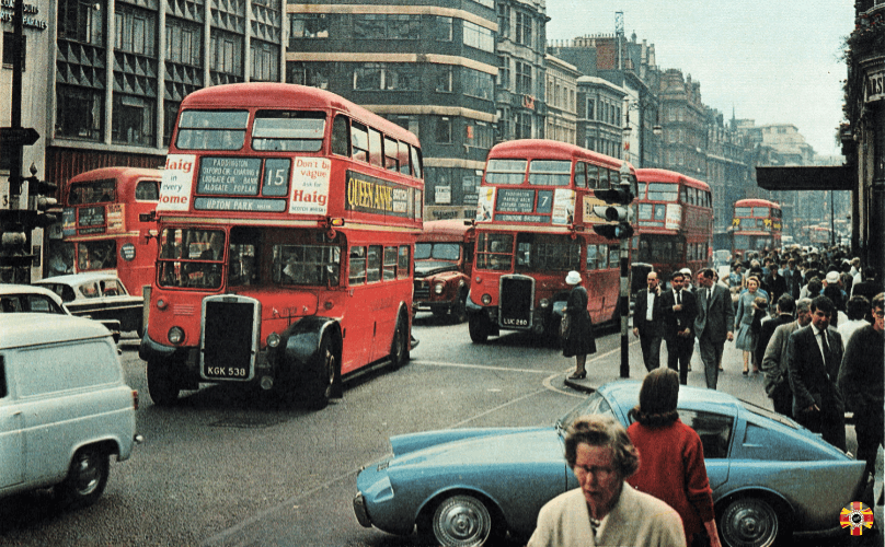 Mystery Car shown in London, junction Oxford Street and Vere Street, circa July or August 1962.