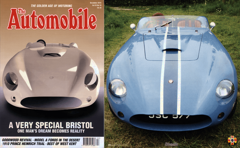 Mitchell Special MKII, with body designed by 3D Engineers, features on front cover of The Automobile magazine.