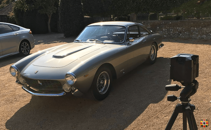NCTech iStar being used by 3D Engineers to 360 degree panoramic photograph a Ferrari 250 Lusso.