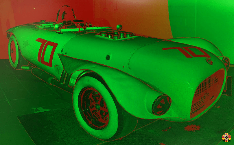 Old Yeller II iconic classic racer 3D laser scanned for insurance purposes by 3D Engineers.