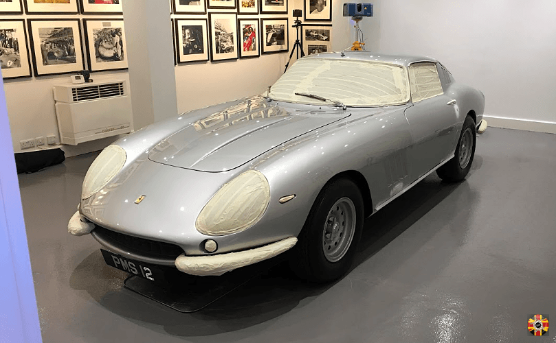 Ferrari 275 GTB classic car 3D laser scanned by 3D Engineers as insurance in case worst happens.
