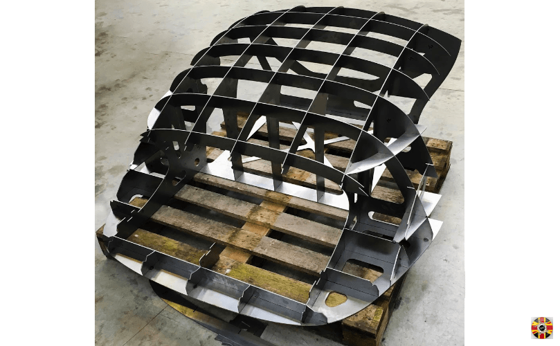 Lancia Aurelia 3D Engineers designed hardtop classic car egg crate body buck created using steel sections.