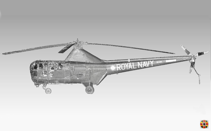 Helicopters, classic and modern, such as Westland Dragonfly laser scanned wherever anywhere on planet by 3D Engineers.