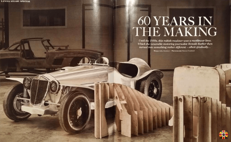 Steady Special 3D Engineers vintage car design and body buck featured in Octane magazine major feature.