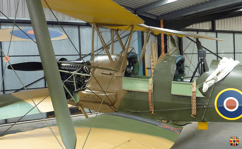 Tiger Moth has iStar 360 degree panoramic camera placed in cockpit by 3D Engineers to record instruments.