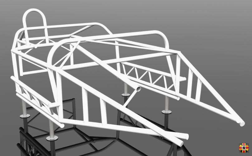 Classic car tubular chassis reverse engineered by 3D Engineers using digital measure and calipers.