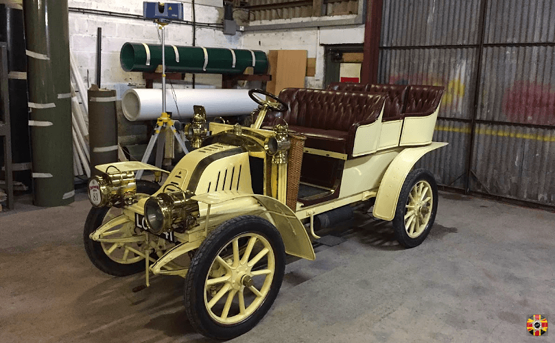 VETERAN CAR, 1905 CORRE TYPE F, Delalande coachwork. 3D Engineers laser scan at client premises.