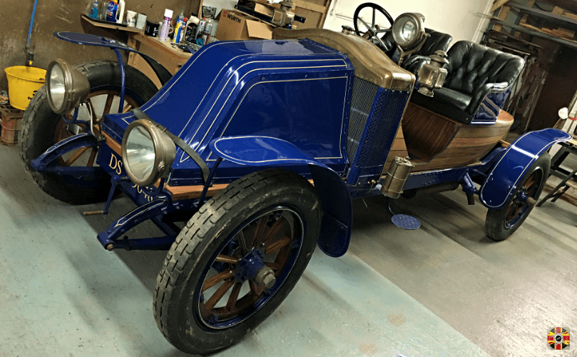 Renault from 1913 has tail replaced with a wood 3D Engineers design created using scanning and CAD.