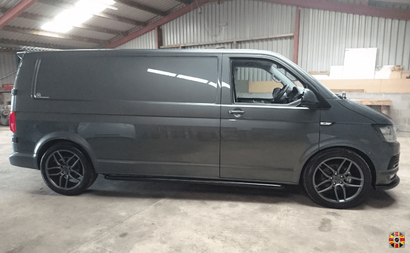 Van ready for 3D laser scan by 3D Engineers to enable design and manufacture of van ply-lining.